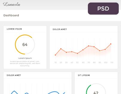 Dashboard / Admin Template Design Concept
