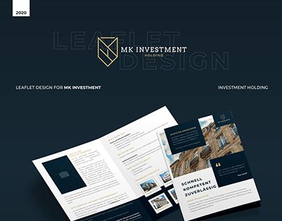 Leaflet Design for MK INVESTMENT