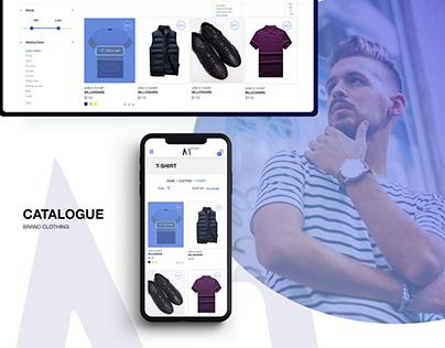M1 OUTLET - brands men`s online store, UX/UI