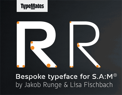 Bespoke typeface for S.A:M®