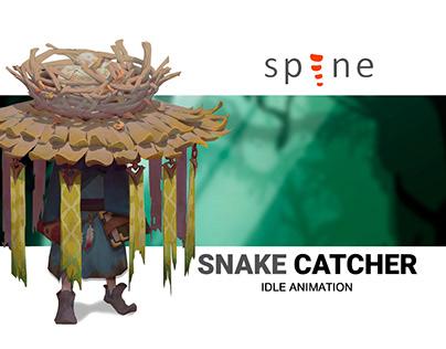 Snake Catсher Idle Animation