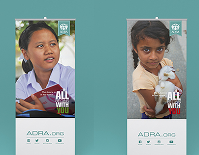 "ADRA ""It All Begins with You"" Campaign Rollup Banners"