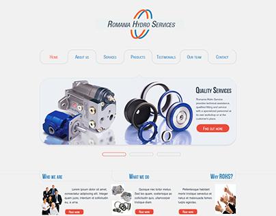 Romania Hydro Services - homepage web design
