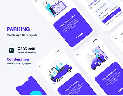 Parking Mobile App UI Template
