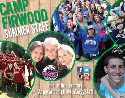 Camp Firwood Summer Staff Postcard