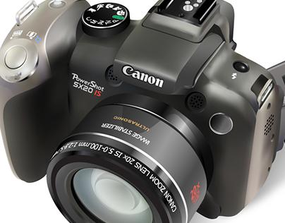 Canon Powershot Digital Rendering