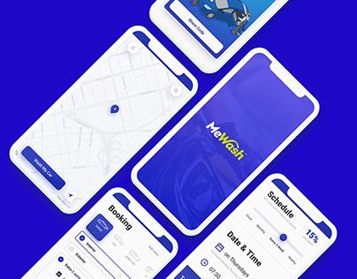 Car Wash Web & App UI Design