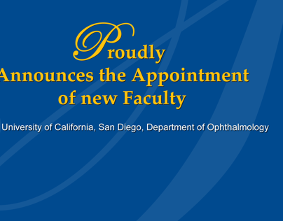 Faculty announcements