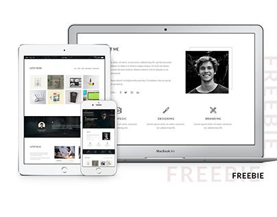 One Page Portfolio landing page -Freebie