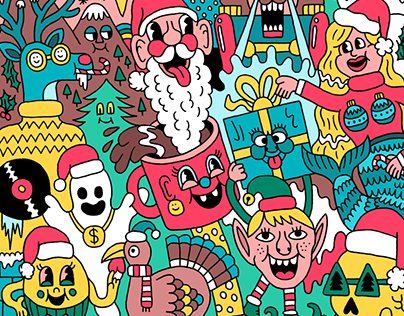 X-Mas illustrations Pull & Bear