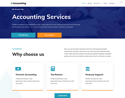 Accounting Service Landing Page