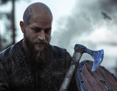 Ragnar Lodbrok 3D-portrait