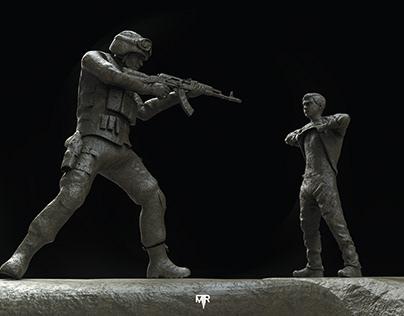 GazaUnderAttack - 3D sculpting