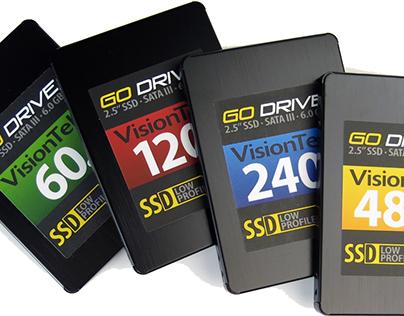 Packaging Design: VisionTek 7mm Go Drive