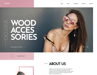 Wooden Accessories. WordPress Landing