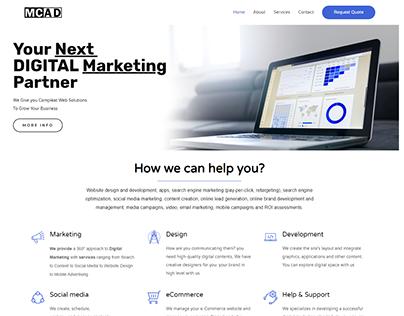 Website Design For Digital Marketing Agency mcad.in
