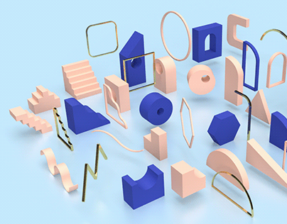 Assembly 3D • Geometric Models Set
