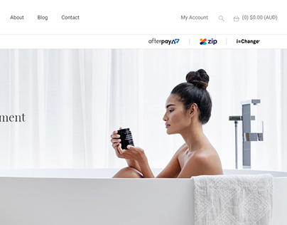 Beauty Skin Wordpress ecommerce website
