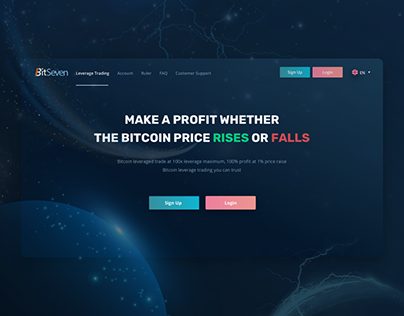 Redesign BitSeven - Cryptocurrency Trading Website