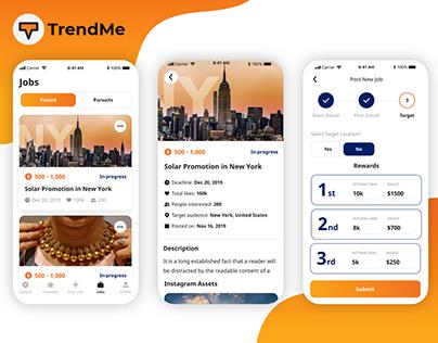 TrendMe - Marketplace for Influencers