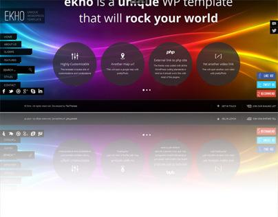 Ekho, Premium WordPress FullScreen Portfolio Theme