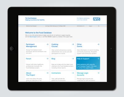 NHS Food Database