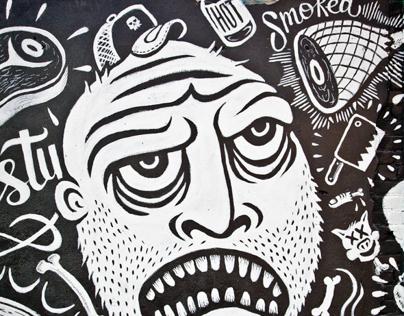 MEATBAG - Freak Alley Mural 2012