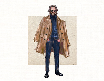 Editorial illustration for MENSWEAR Book