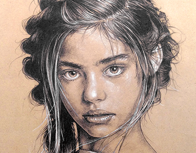 Jade Weber Portrait Drawing