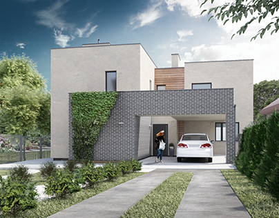 Exterior visualisation of house in the Sokilnyky city