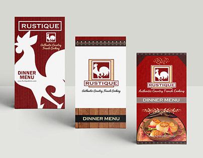 Rustique Restaurant Menu