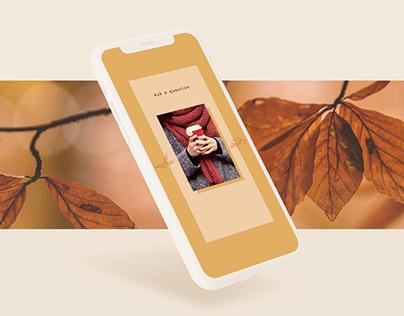 Fall Mood. Social media pack for Instagram