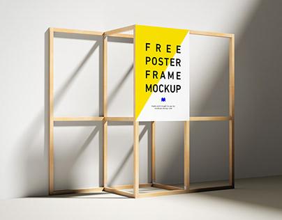 Freewooden poster frame mockup