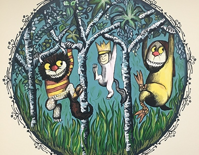 """""""Where the Wild Things Are"""" mural"""