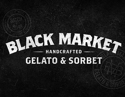 Black Market Gelato - Branding/Packaging Design