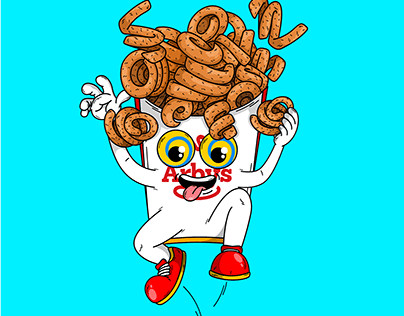 Arby's curly fries cartoon character