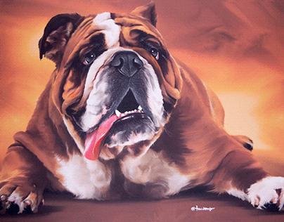 Portrait on canvas.