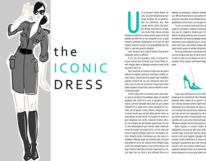 The Iconic Dress - editorial illustration
