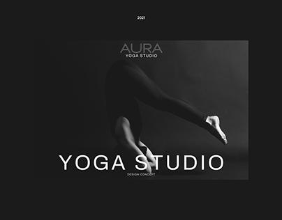 Landing page for Yoga studio AURA