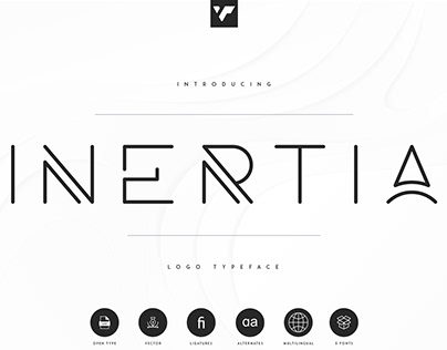 Inertia Logo Typeface   Free Download