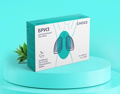 rebranding of food supplements packaging Choice