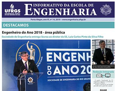 Design editorial - Informativo da Escola de Engenharia