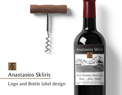Anastasios Skliris Logo and Bottle label design