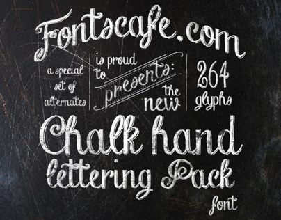 """Chalk Hand Lettering"" pack"