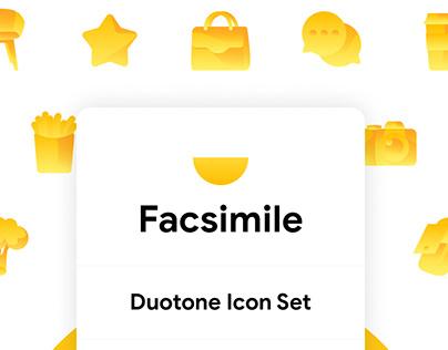 Facsimile Doutone Icon Set