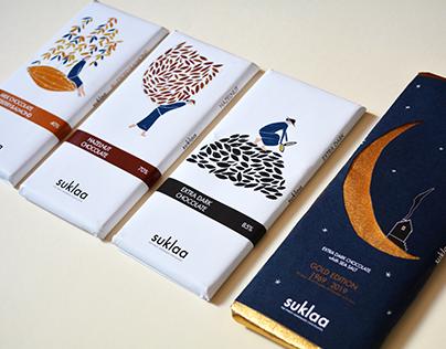 Diseño e ilustración para packaging de chocolate