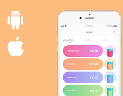 Juice Ordering Mobile App Design