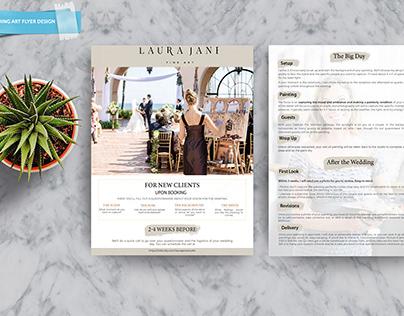 Wedding art flyer design