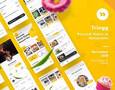 Tringg   UI/UX   Personal Waiter at Restaurants