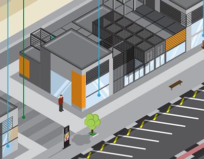 Boxpark Isometric Wayfinder Map On Behance